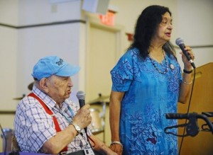 Max Siegel, 103, with Vera Sharma